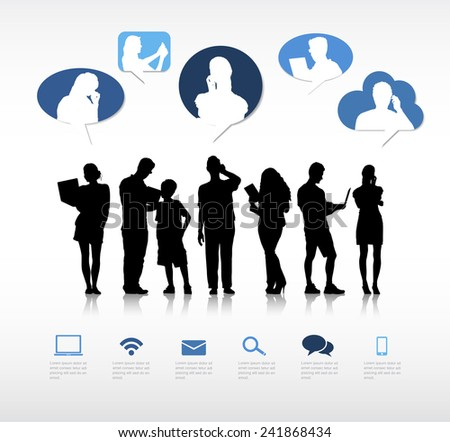 Social Networking - stock vector