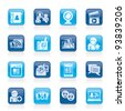 social networking and communication icons - vector icon set - stock vector