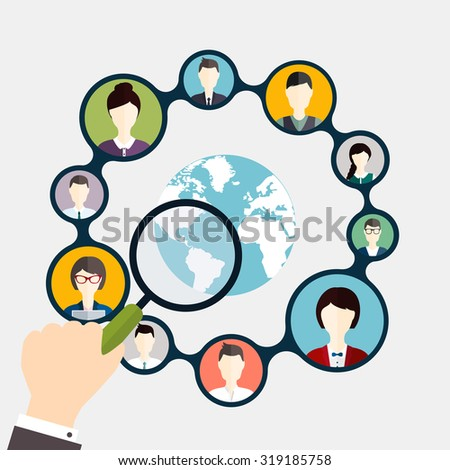 Social Networking and Social Media avatar Concept. - stock vector
