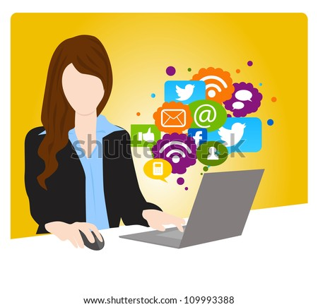social networking concept - stock vector