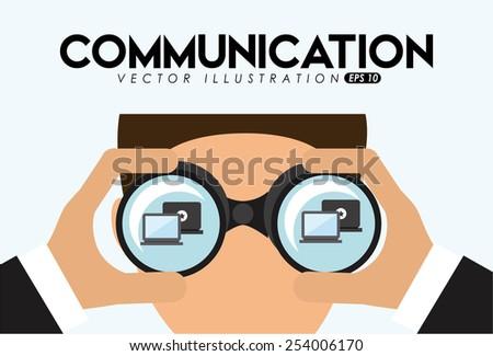 social networking design, vector illustration eps10 graphic  - stock vector