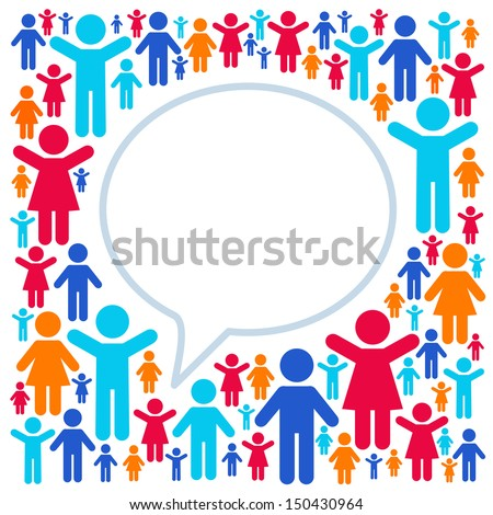 Social networking, speech cloud - stock vector