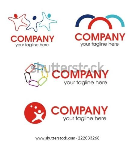 Social relationship logo, vector illustration - stock vector