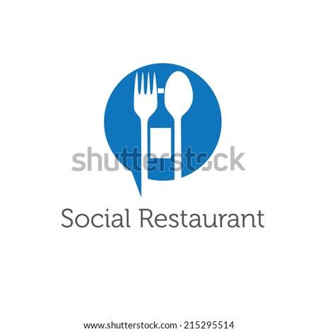 social restaurant vector design template - stock vector