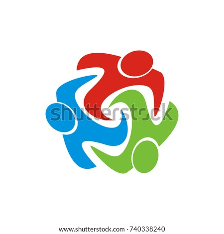 Social support abstract figure community care stock vector social support abstract figure community care adoption and charity design template vector sciox Images
