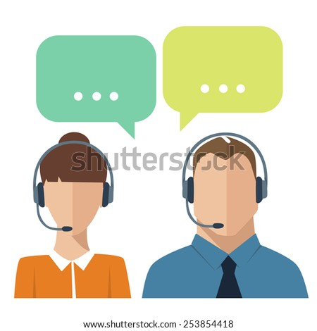 Social vector icons with dialog options - stock vector