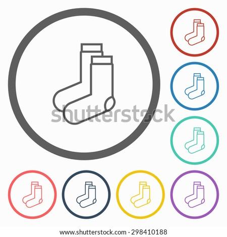 sock icon - stock vector