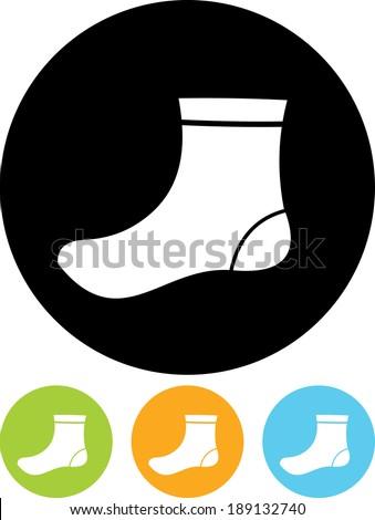 Sock vector icon - stock vector