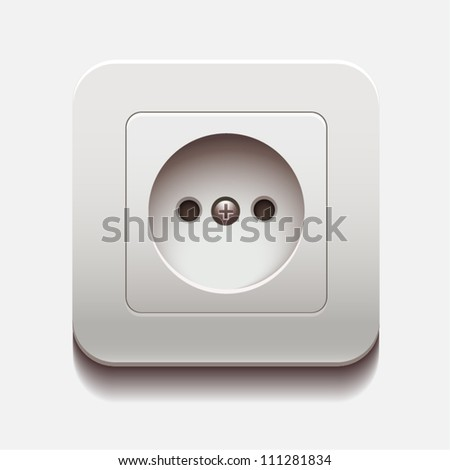 Socket - stock vector