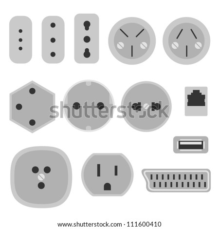 socket - stock vector