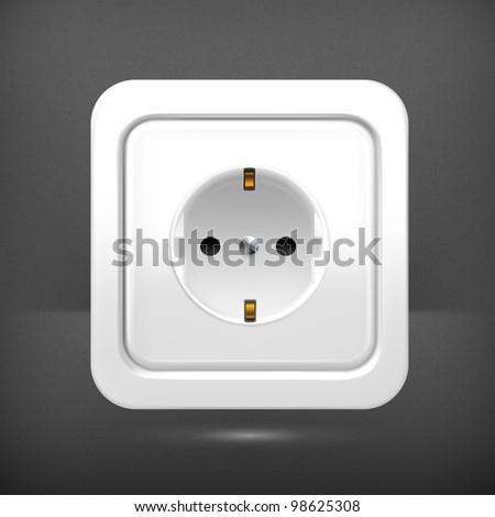 Socket, vector - stock vector