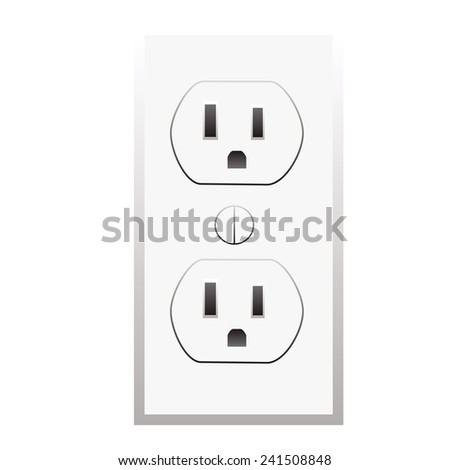 socket Vector icon - stock vector