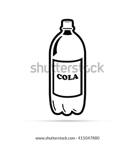 Soda Bottle Icon - stock vector