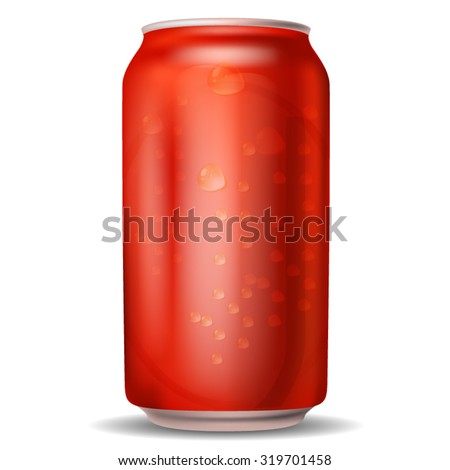 Soda Can Isolated on white - stock vector