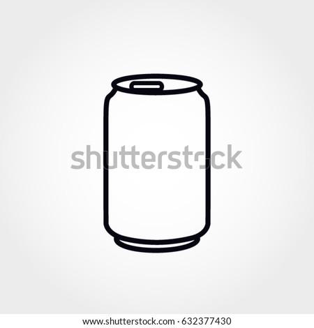 soda can vector icon stock vector 632377430 shutterstock rh shutterstock com All Soda Cans All Soda Cans