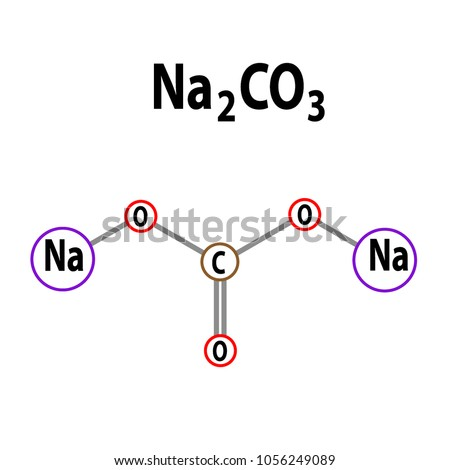 Sodium Carbonate 2 D Structure Na 2 CO 3 Stock Vector ... Na2co3 Structure