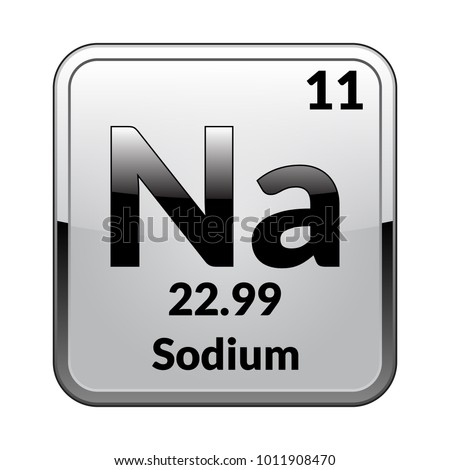 Sodium symbol chemical element periodic table on stock vector sodium symbolemical element of the periodic table on a glossy white background in a urtaz Image collections
