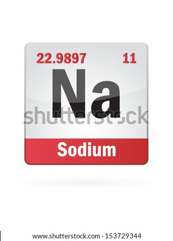 Sodium Symbol Illustration Icon On White Background - stock vector