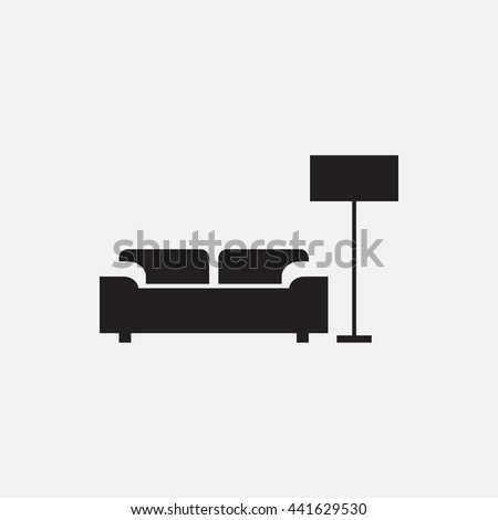 Sofa and lamp Icon, Sofa and lamp Icon Eps10, Sofa and lamp Icon Vector, Sofa and lamp Icon Eps, Sofa and lamp Icon Jpg, Sofa and lamp Icon, Sofa and lamp Icon Flat, Sofa and lamp Icon App - stock vector