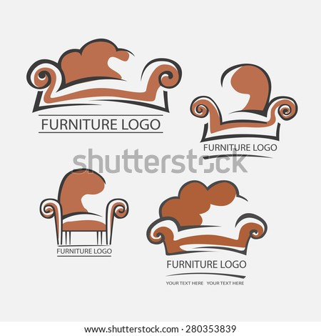 Sofa furniture logo your business element stock vector for Chair logo design