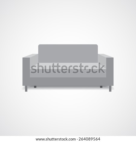 Sofa furniture vector concept illustration. - stock vector