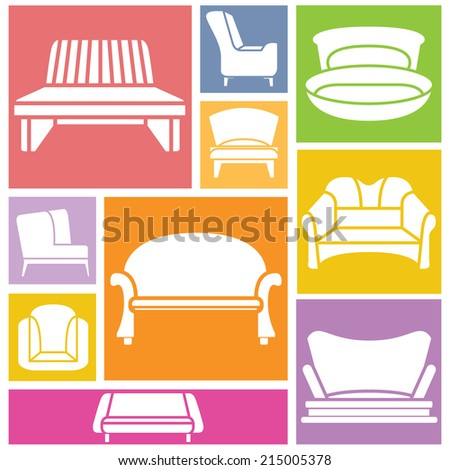 Double beds pillows set blanket modern stock vector for Colorful concepts interior design