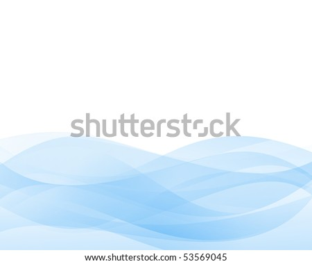 Soft blue abstract background - stock vector
