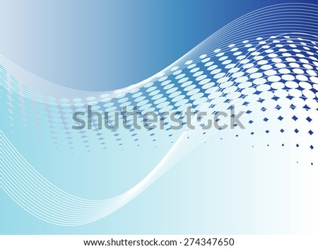 Soft Blue wave background