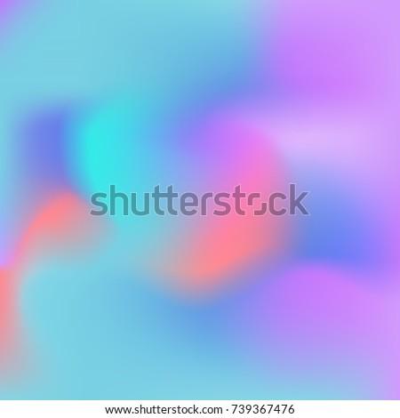 Holographic Wallpaper Set Modern Mobile Or Web App Screen