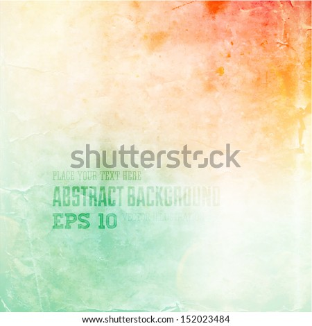 Soft colored abstract background for design - stock vector