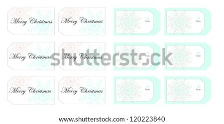 Soft colors Christmas gift tags - stock vector