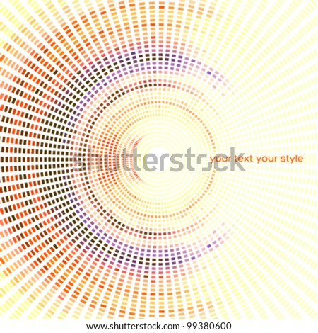 soft colors radial & pixel background - stock vector