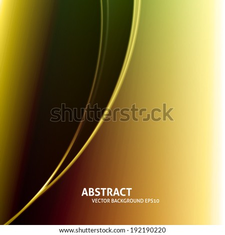 Soft curved light lines vector background - stock vector