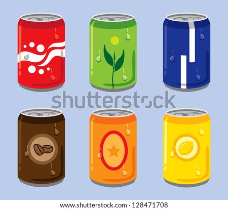 Soft Drink Cans - stock vector