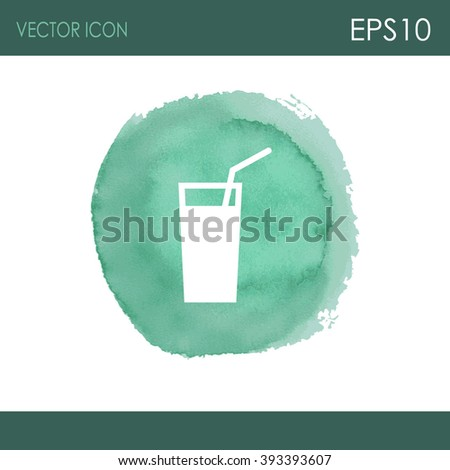 Soft drink vector icon.