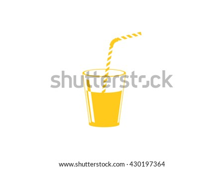 Soft drink vector icon - stock vector