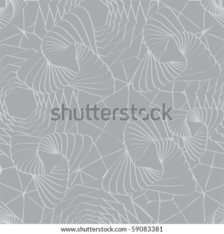Soft grey asymmetrical repeating pattern; vector format - stock vector