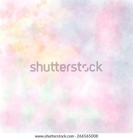 Soft pastel bright colored calm abstract background for design. Watercolor texture paper effect. Vector background. - stock vector