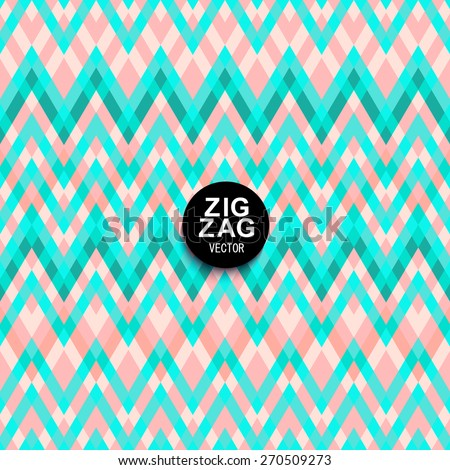 Soft Pastel Shades Of Pink And Mint Chevron Ornament Geometric Vibrating Wave Wallpaper Abstract