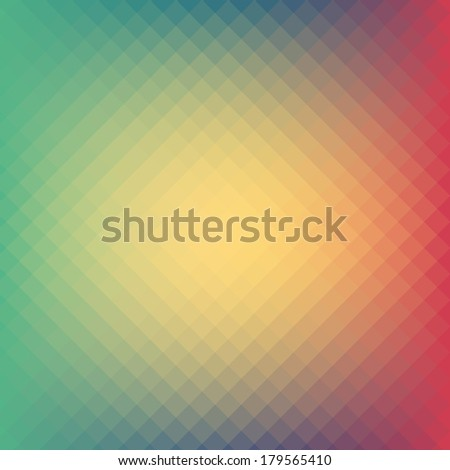 Soft pastel tone color geometric, mosaic hipster design background. - stock vector
