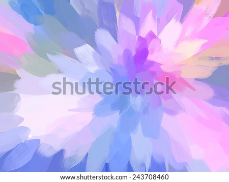 Soft pink flower. Abstract illustration. - stock vector