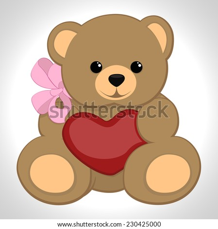 Soft toy - stock vector