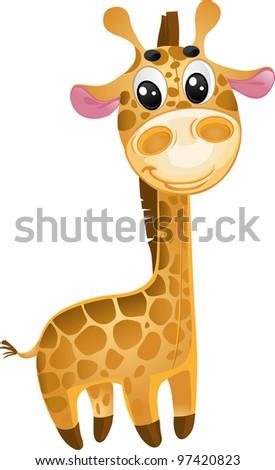 soft toys - baby giraffe. vector - stock vector