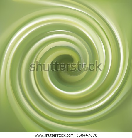 Soft wonderful mixed gel light apple avocado yellow curvy eddy ripple artistic fond. Fern color creative water wavy volute fluid smooth glowing sauce surface with space for text in center of funnel - stock vector