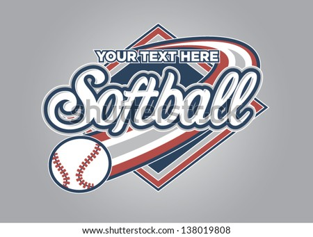 Softball Sport Graphic - stock vector