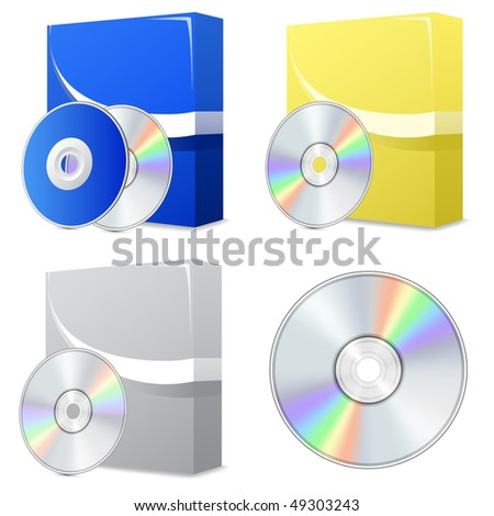 Cd Dvd Isolated Vector Icon Compact Stock Vector 599451944