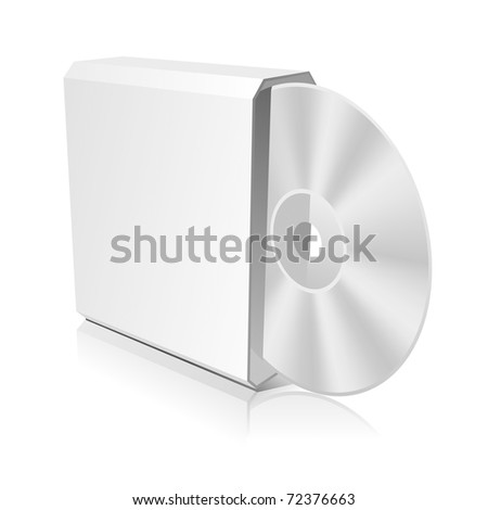 Software CD Box Blank Template. Vector Illustration (EPS 8.0)