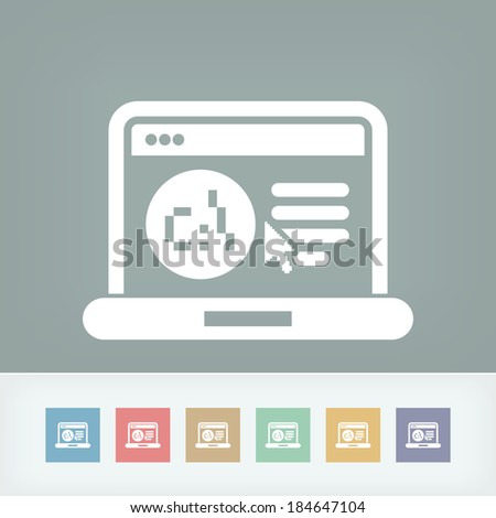 Software language webpage icon - stock vector