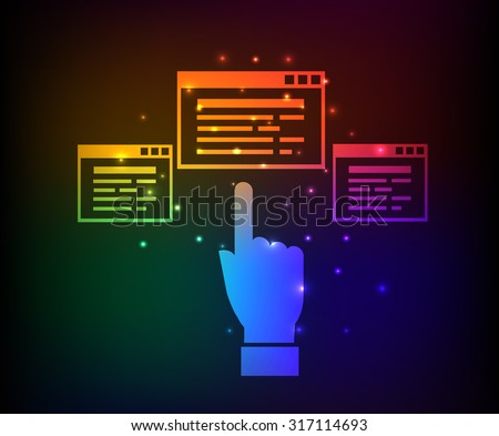 Software,network design,abstract rainbow concept,clean vector