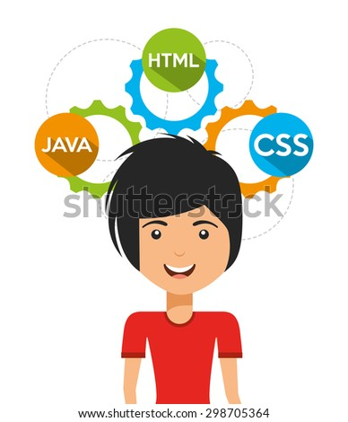 software programmer design, vector illustration eps10 graphic  - stock vector